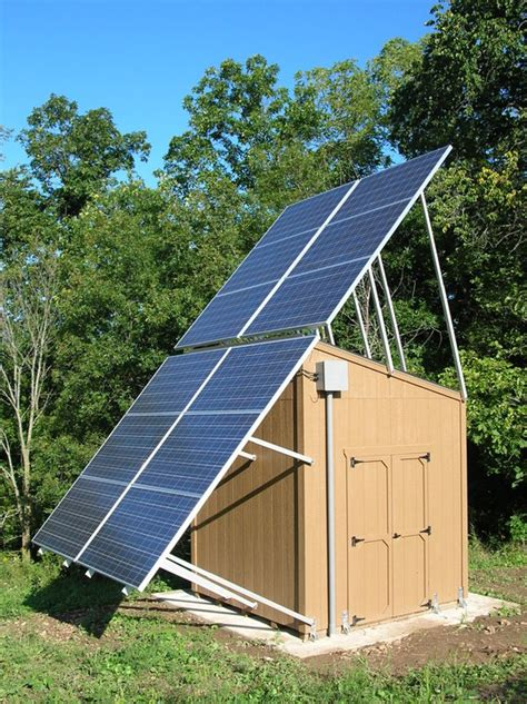 Solar Panel For Shed midwest company sheds new light on solar power energy