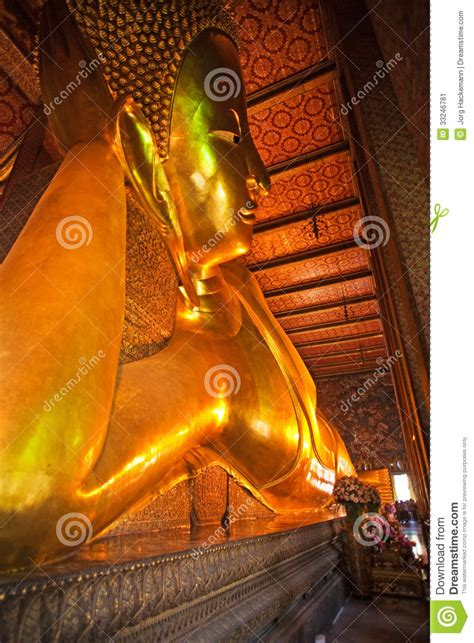 giant reclining buddha the giant reclining buddha in wat stock image image