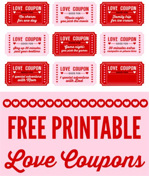 printable free love coupons printable love coupons ninja turtletechrepairs co