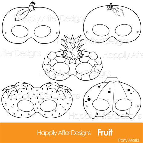 Strawberry White Mask fruits printable coloring masks strawberry mask banana mask