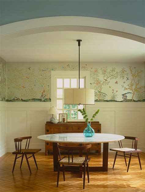 Wallpaper Dining Room by 27 Splendid Wallpaper Decorating Ideas For The Dining Room