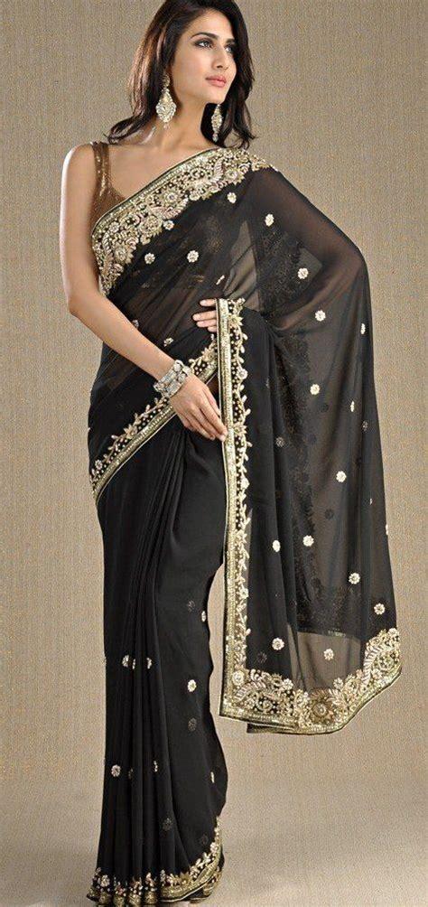 Sari And Gold black and gold saree style