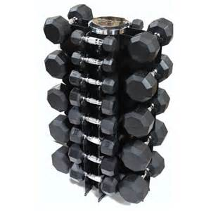 vtx 8 pair vertical dumbbell rack set with rubber encased