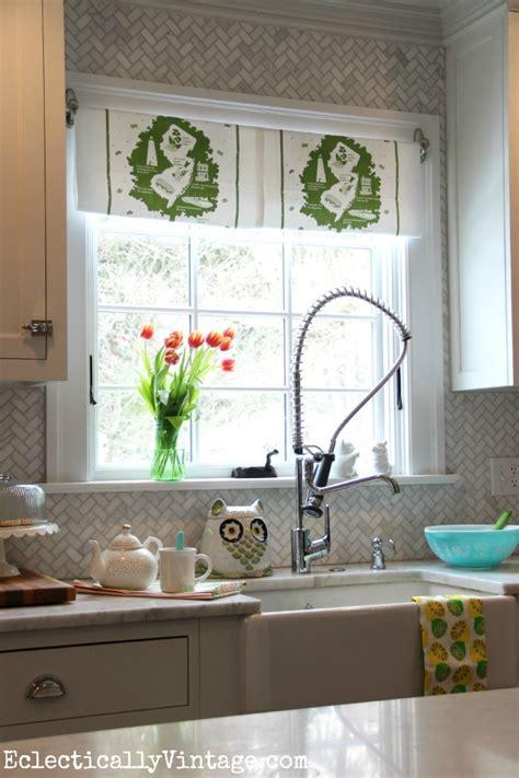 Kitchen Window Treatments Diy Diy Dish Towel Window Treatment Brighten Up Your View