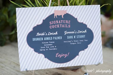 signature drink wedding and blush pinterest