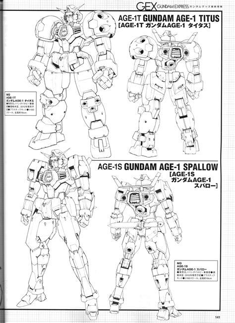 Gundam AGE Mechanic Drawing Data, No.4 Wallpaper Size