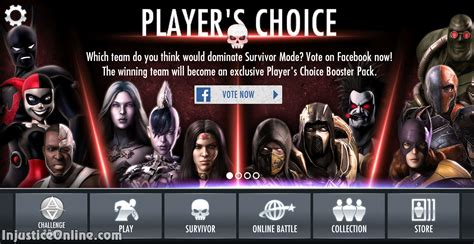 us mobile injustice gods among us mobile players choice booster pack