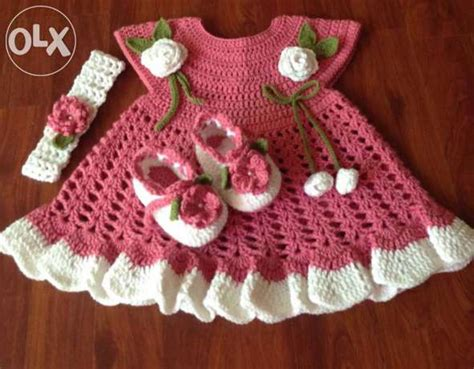 Handmade Baby Frocks Designs - crochet baby set clasf