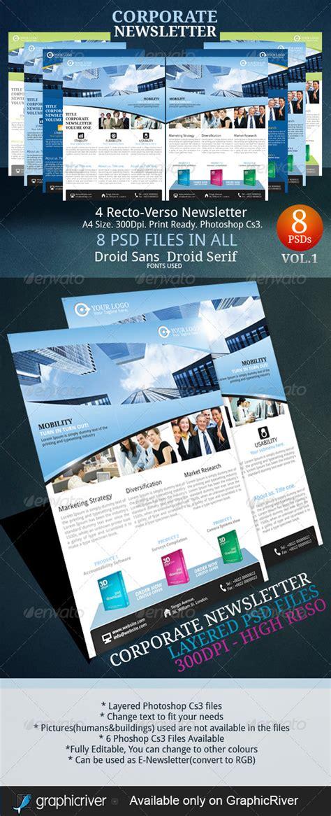 9 Premium Business Newsletter Templates Newsletter Ideas Print Newsletter Templates Photoshop