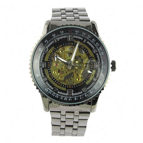 fashion high end mechanical transparent stainless steel