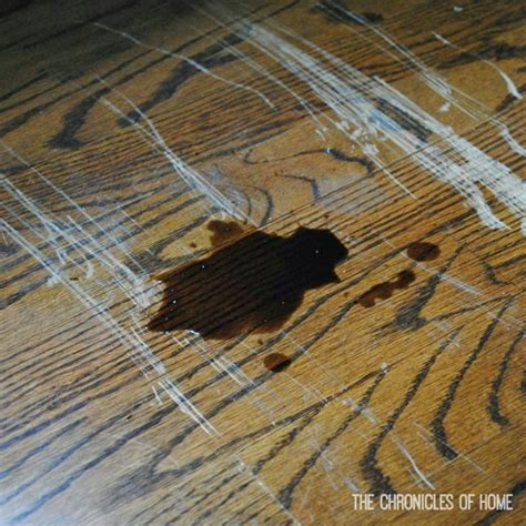 Repair Scratches In Wood Floor Fix Scratched Hardwood Floors In About Five Minutes The Chronicles Of Home