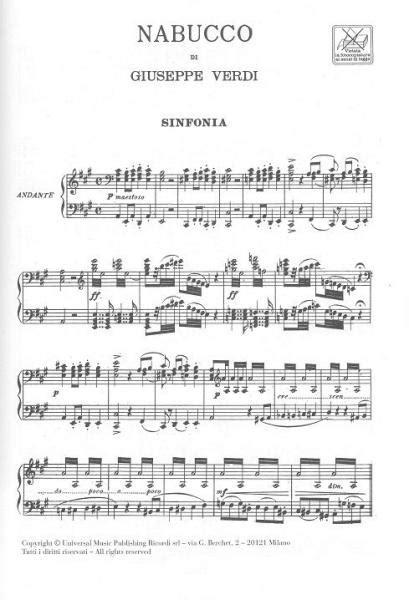 0040537129 partitions classique ricordi verdi g partitions verdi g nabucco chant et piano piano voix
