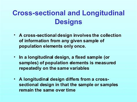 difference between longitudinal and cross sectional research marketing research ch3
