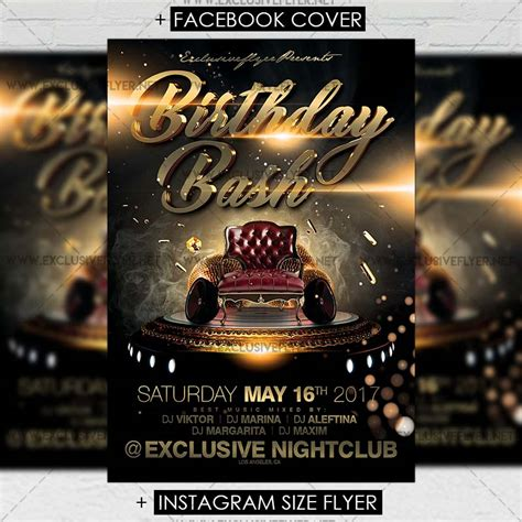 Birthday Bash Premium A5 Flyer Template Exclsiveflyer Free And Premium Psd Templates Bash Flyer Template