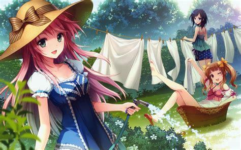 wallpaper anime hd girl anime girl washing clothes wallpaper desktop hd wallpaper