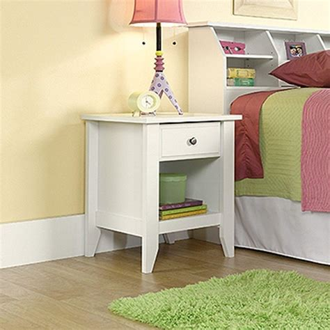 Sauder Shoal Creek Nightstand by Sauder Shoal Creek 1 Drawer Soft White Nightstand 411200