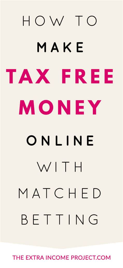 How To Make Money From Betting Online - how to make tax free money online with matched betting
