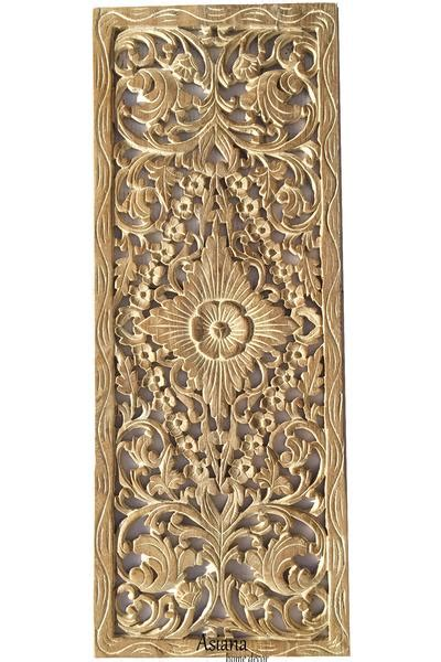 tropical floral wood carved wall panel unique rustic home decor asiana home decor