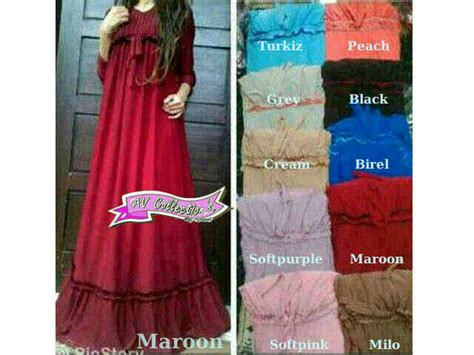 Dress Jumbo Katun Rayon 2xl Dress Rempel Jumbo dress valiant maxi p929 baju gamis wanita murah