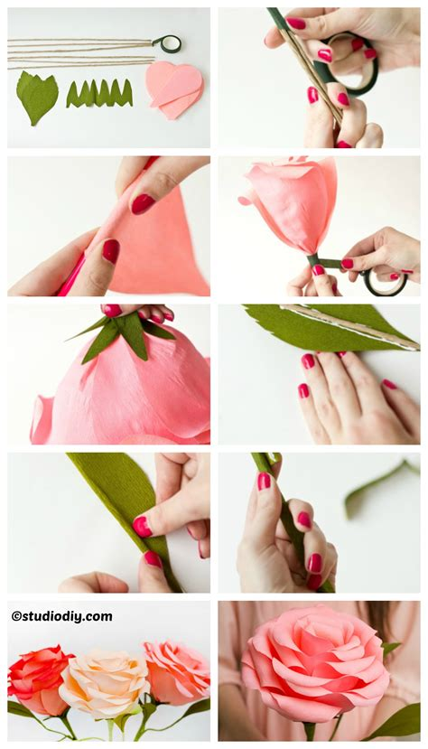 How To Make Roses With Paper Step By Step - how to make crepe paper step by step www pixshark