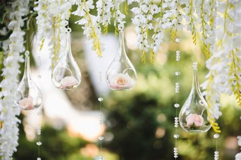 Wedding Images by Decoration For A Wedding With Spheres With Flowers Inside