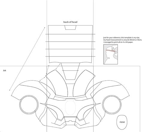 cardboard template iron 4 costume helmet diy cardboard with template