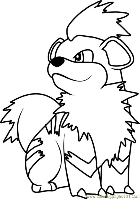 pokemon coloring pages growlithe pokemon growlithe coloring pages sketch coloring page