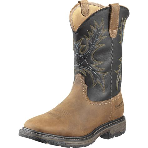 ariat workhog wide square toe h20 steel toe boot s