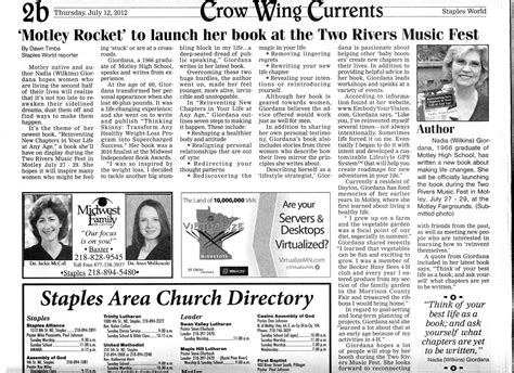 The Newspaper Essay by Newspaper Article In Home Town Paper Thinking