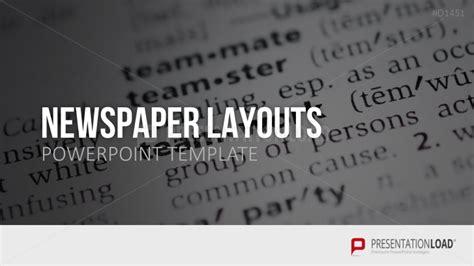 Powerpoint Layout Zeitung | presentationload newspaper layouts