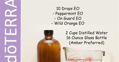 diy doterra mouthwash peppermint  guard wild orange