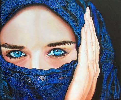 imagenes ojos mujeres arabes jose maria madrid pintor realista