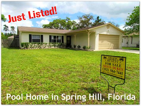 hill florida home for sale with pool and fenced yard