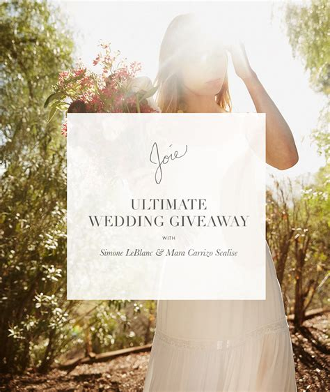 Ultimate Wedding Giveaway - tag joie bloglikes