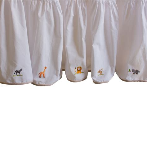 gordonsbury crib bedding gordonsbury on safari embroidered dust ruffle featured at