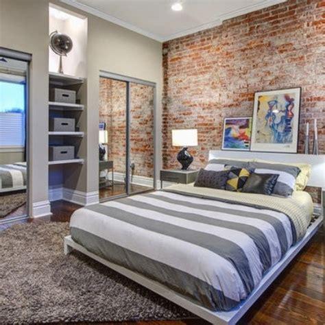 brick wallpaper bedroom design designer bedrooms with exposed brick walls