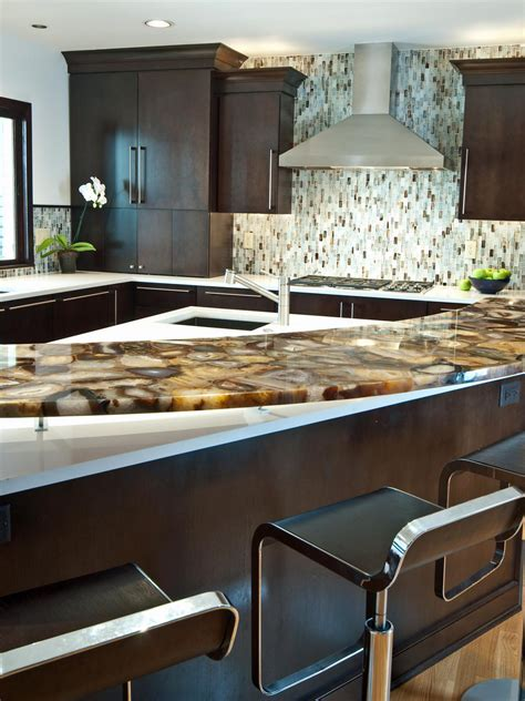 Designer Backsplashes For Kitchens by 10 High End Kitchen Countertop Choices Kitchen Ideas