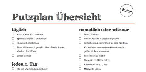 Haushaltsplan Vorlage Putzen by Putzplan Wochenplan Todo Liste Zum H 228 Welm 228 Use