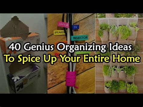 40 genius organizing ideas to spice up your entire home