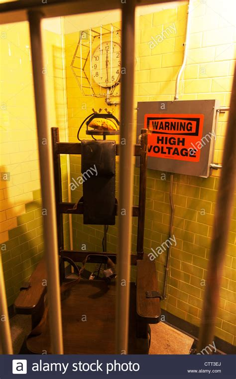 warning high voltage from electric chair penalty