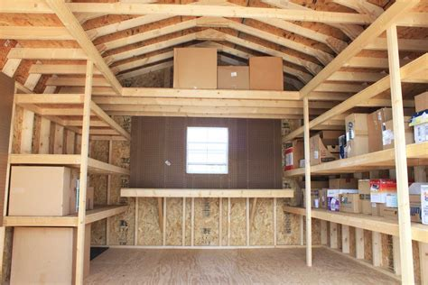 storage shed shelving ideas pinteres