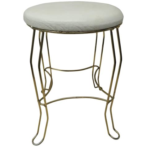 vintage brass vanity stool at 1stdibs