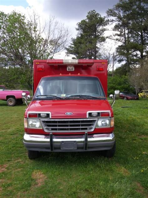ambulance lights and sirens for sale 1993 ford e350 7 3 diesel ambulance 70k all