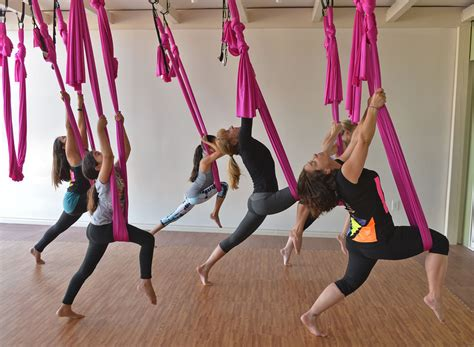 swing classes los angeles new aerial yoga practice defies gravity at art yoga and