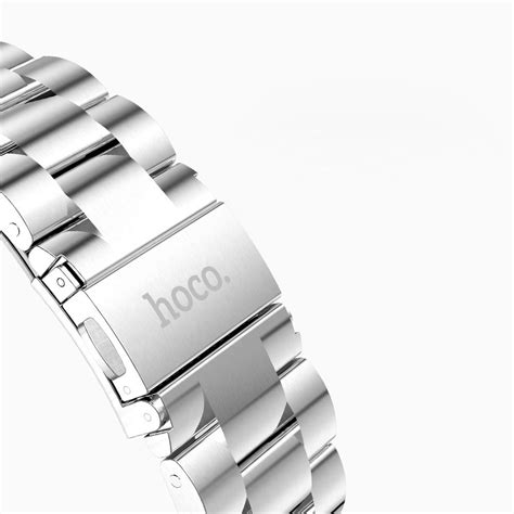 Apple Band Hoco Stainless Steel 3 Pointer 42mm 38mm Gold Color 1 hoco stainless steel link bracelet apple 42mm silver