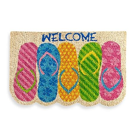 flip flop door mat flip flop welcome door mat bed bath beyond
