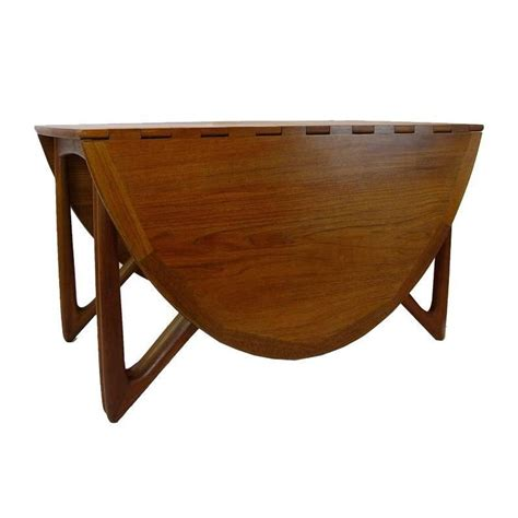 Drop Leaf Folding Dining Table Sculptural Kurt Ostervig Teak Gate Leg Drop Leaf Folding Dining Table At 1stdibs