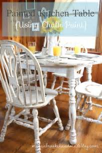 Chalk Paint Kitchen Table And Chairs How To Rev Your Kitchen Table Using Chalk Paint Megan Handmade