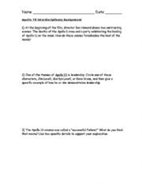 Apollo 13 Worksheet Answers by Apollo 13 Worksheet Answers