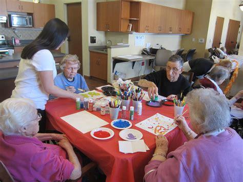 helping seniors paint flickr